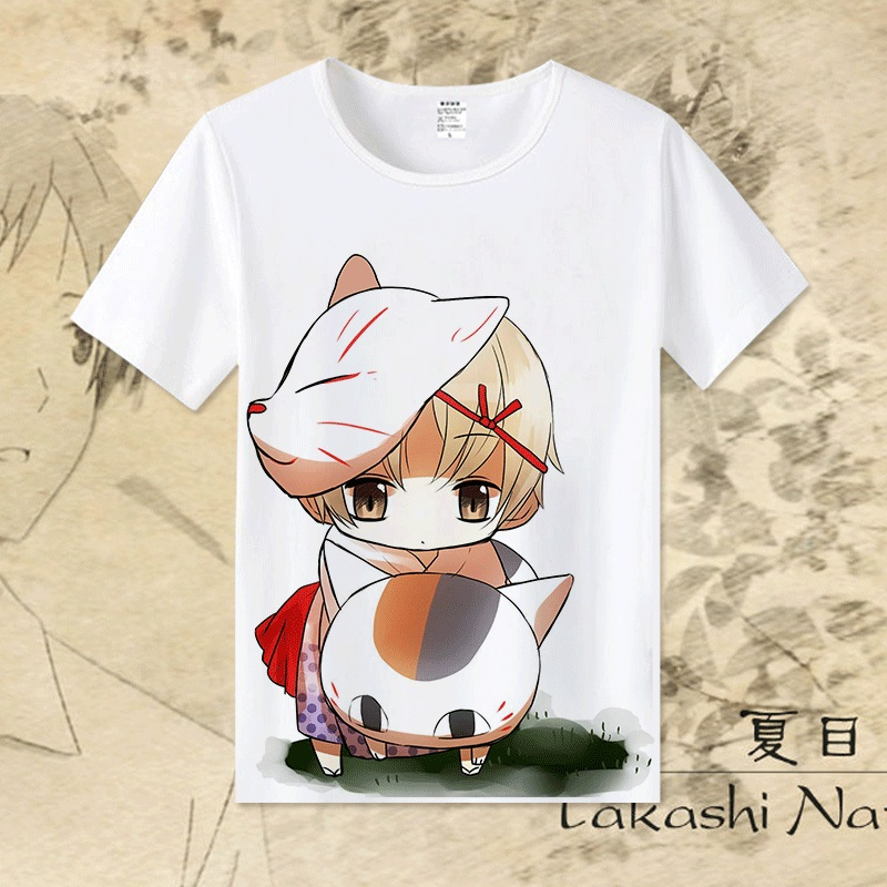 Natsume Yuujinchou Men's T shirt Comfortable Modal Natsume's Book of Friends tshirt Flexible Short Sleeve Fashion Shirt  TX130
