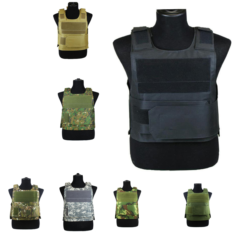 Tactical Vest Military Camouflage Body Armor Sports Wear Hunting Security Protective Vest Army Molle Vest With 7 Colors DYF005