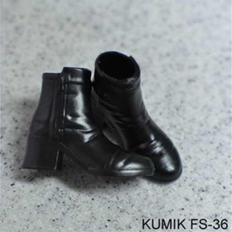 """Hot 1/6 Wanita 1/6 Skala FS33-FS36 Sepatu Bot Hitam Kosong Di Dalam Sepatu Cocok untuk 12 """"Wanita Action Figure Model Mainan koleksi Hadiah"""