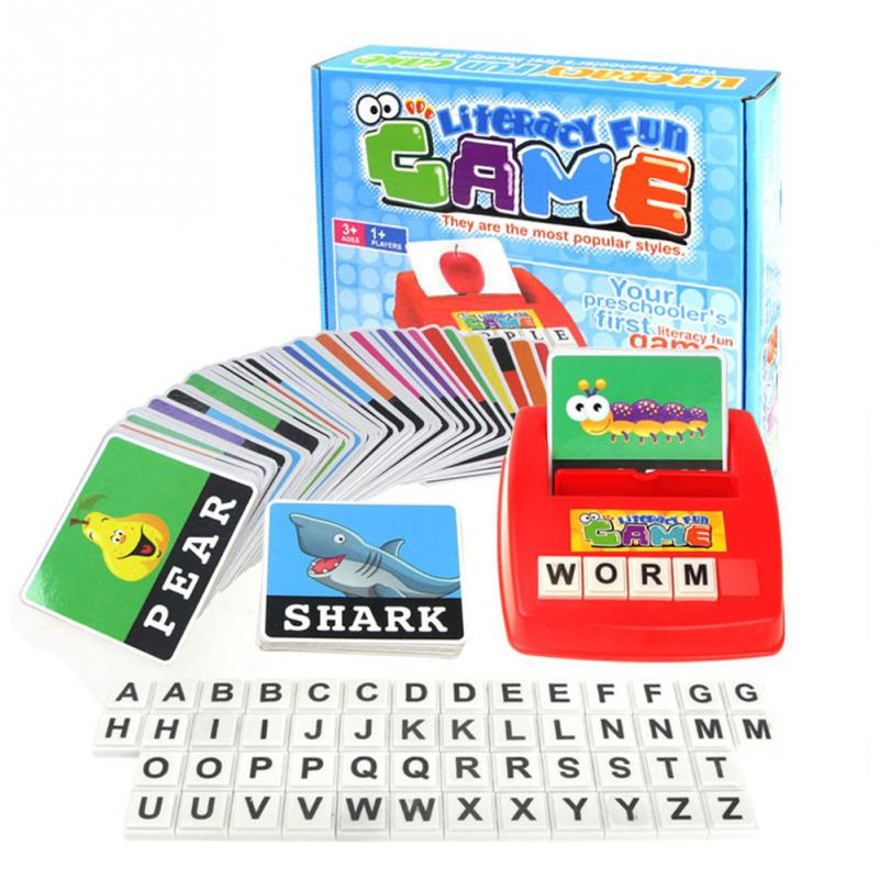 Children Alphabet  Game Card English Alphabet Letters Learning Toys Vocabulary Word Picture Match Game Educational Toys