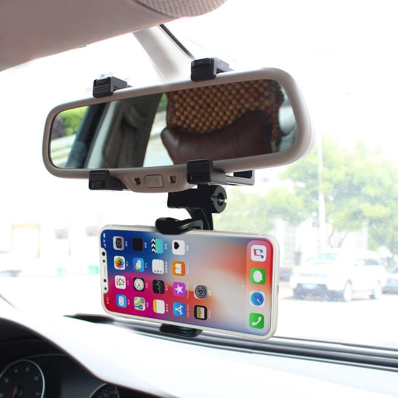XMXCZKJ Mbajtës i Telefonit të Automjetit Pasqyrë e pasme e - Aksesorë dhe pjesë të telefonit celular - Foto 6