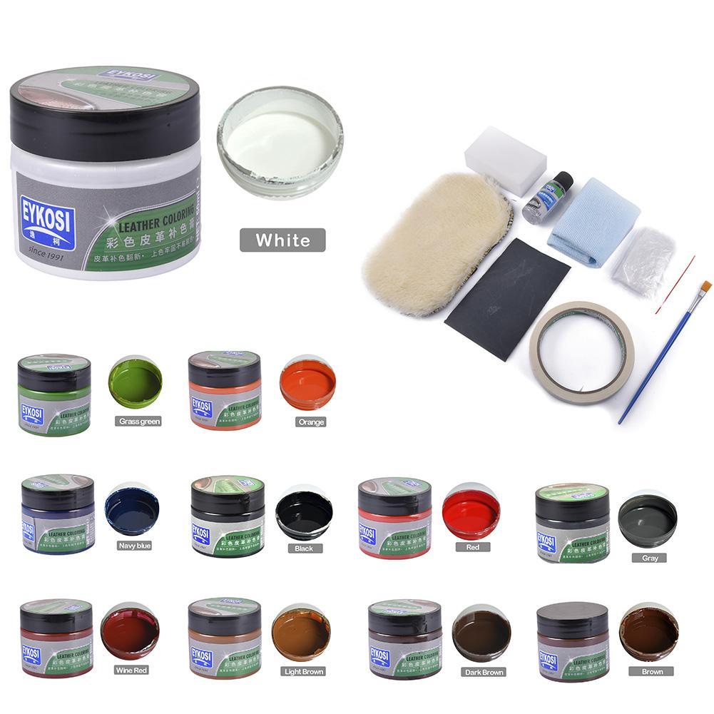 Remodelação de couro de pele líquida com 8 ferramentas relacionadas assento de carro auto sofá coats buracos rasgos rachaduras kit reparação de vinil ferramentas