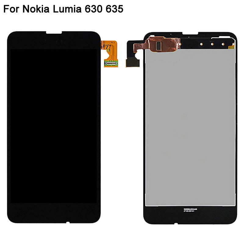 LCD Display For Nokia Lumia 630 635 LCD Screen With Touch Sensor Digitizer Assembly Replacement Brand New Black Front Screen