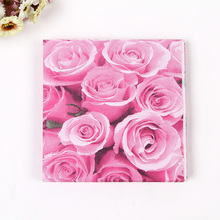2packs Food-grade Big Rose Flower Design Printed Paper Napkin Placemats for Party Decoration table decoration accessories napkin