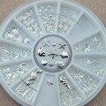 2017 Beleza brilho do Metal 3D Nail Art Decoração Acessórios Suprimentos de Unhas de Prata Roda Manicure Ferramentas de Beleza