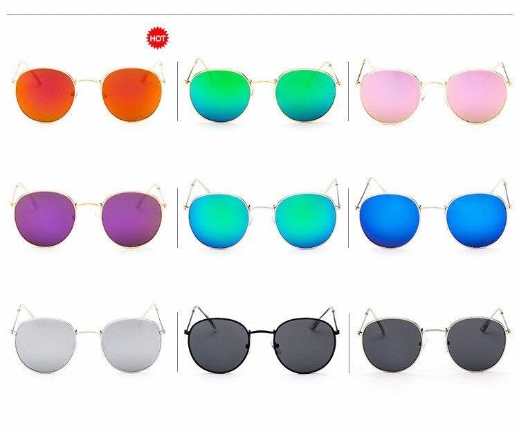 Luxury Brand Design Round Aviator Sunglasses Women Retro Brand Sun Glasses For Women Female Lady Sunglass Driving Mirror Glasses (7)