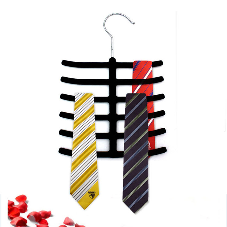 Fishbone Necktie Tie Belt Belts Hanger Rack Shawl Scarf Clip Holder Organizer
