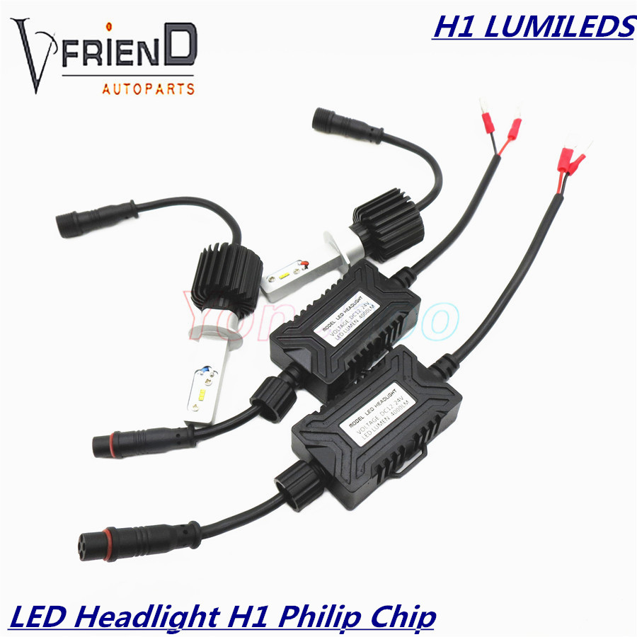 2x H1 6000K PhIilip s Chip LUMILEDS LUXEON ZES Replacement Daytime Running font b Lights b