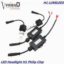 2x H1 6000 K Chip de LUMILEDS LUXEON PhIilip ZES Reemplazo Conversión de Faros Luces de Circulación Diurna DRL Niebla Conducir Bombilla