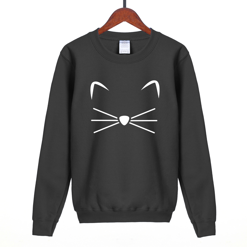 Kitty Kitten Meow Kawaii cartoon women tracksuits 2018 spring hot sale brand women hoodies fleece sweatshirt harajuku pullover