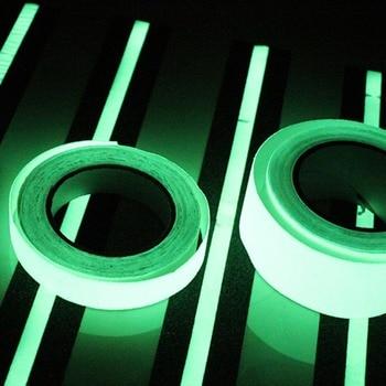 20 MM 3 M Fita Luminosa Fita Adesiva Visão Noturna Brilha No Escuro Aviso de Segurança Fase de Segurança Fitas de Decoração para Casa 1
