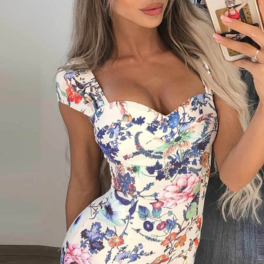 Gratis avestruz Multicolor Pinting Womens Dress moda Sexy Evening Party Ladies vacaciones vestido verano vendaje ropa ajustada