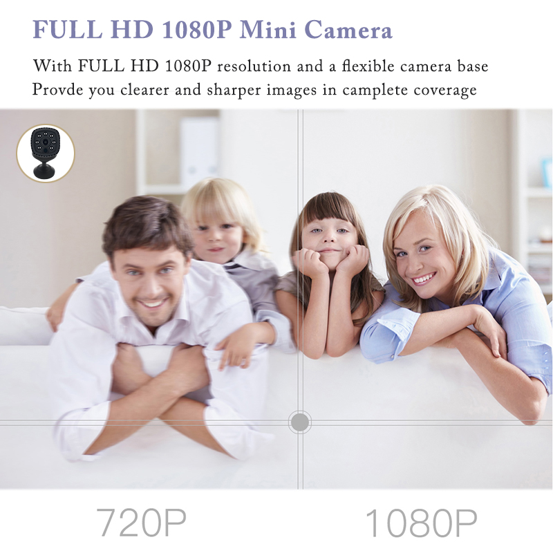Image 2 - Wifi mini wireless ip night vision camera FHD 1080P mini camera ip small micro camera supports 128GB memory expansion-in Webcams from Computer & Office
