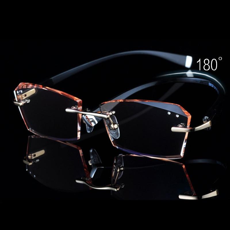 Männer Linse Festigkeit 615 gold Randlose Gun Gute Rahmen Gläser Flexibilität Tr Farbige Brillen Myopie Klare 1FBFqI