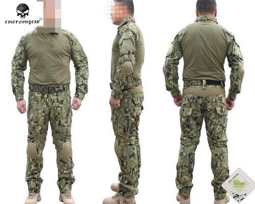 EMERSON Gen2 Official Tactical Training Uniform Combat BDU Shirt&Pants with Protective Pads Combat Hunting Camouflage Uniform hot sale gen2 official tactical military training uniform combat clothing pant