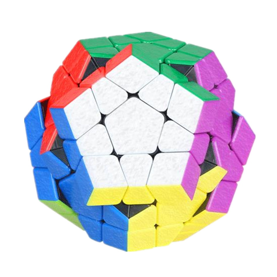 Shengshou 3x3 Megaminx Cube Stickerless 3x3x3 Gem Magic Cube 3Layers Speed Cube Professional Puzzle Toys For Children Kids Gift