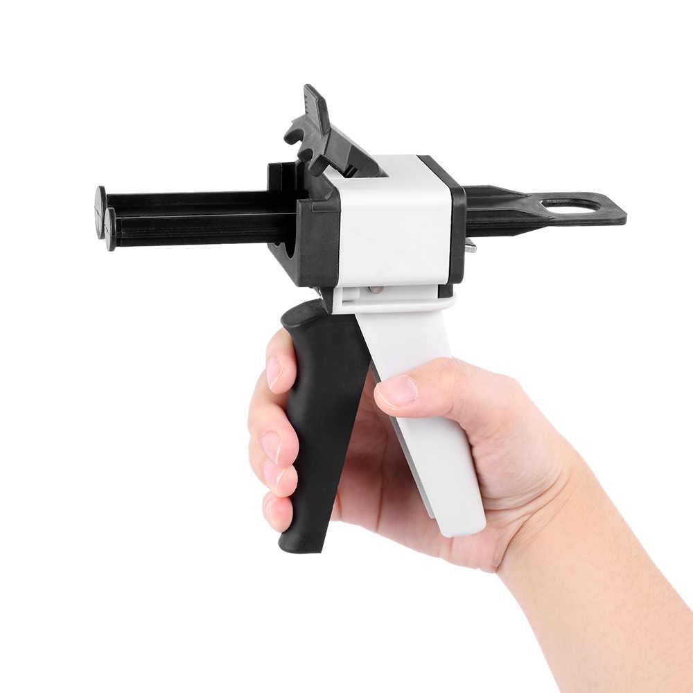 Стоматологическое оборудование впечатление смешивающий диспенсер Универсальный диспенсер силиконовый резиновый диспенсер Gun1: 1/1:2 50 мл инструмент для ухода за зубами