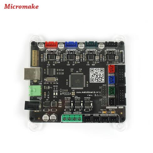 Micromake 3D Printer Controller Board Main Control panel Compatible Ramps 1.4 Support Heated Bed 3D Printer Parts free shipping 3d printer ultimaker1 5 7 control board supports dual print compatible ramps