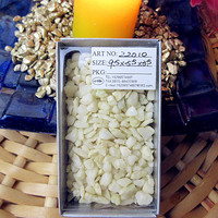 Potted Ornamental Gardening Supplies Colored Stone Fairy Garden Decorated Ivory White Gravel 200g