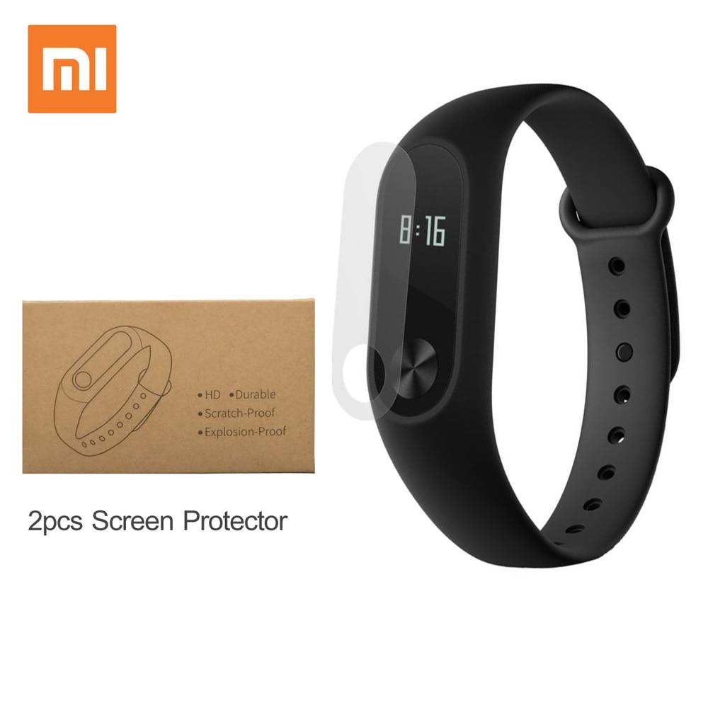 imágenes para Xiaomi mi banda 2 elegante pulsera de la pulsera band gimnasio rastreador pulsera smartband pulsómetro 100% original en la acción