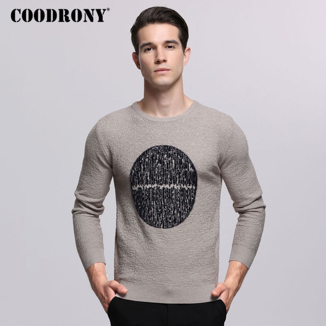 06a3b8aa790 US $43.0  COODRONY Casual O Neck Sweater Men 2018 Autumn Winter Mens  Sweaters Fashion Pattern Pull Homme Knitting Cotton Pullover Men 7250-in ...