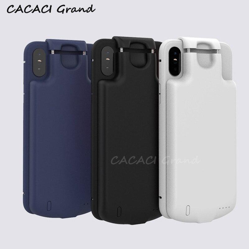 Hot universel chargeur de batterie externe étui pour iphone 7 8 Plus 6 6 S Plus batterie externe étui pour iphone XR XS MAX X 10 étui de batterie