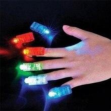 Горячая, флуоресцентный мигающий концертный реквизит, светильник, светодиодные игрушки, кольцевая лампочка на палец, светодиодные светящиеся Детские игрушки