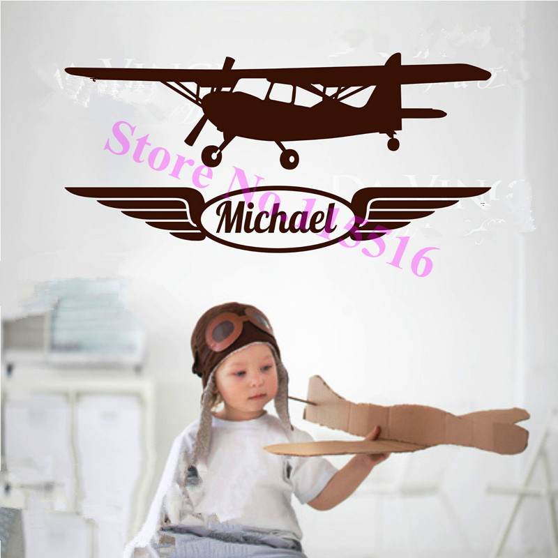 E501 Wall Stickers Home Decor Diy Poster Decal Mural Vinyl Airplane Aircraft Planes Navy Warbird Wall