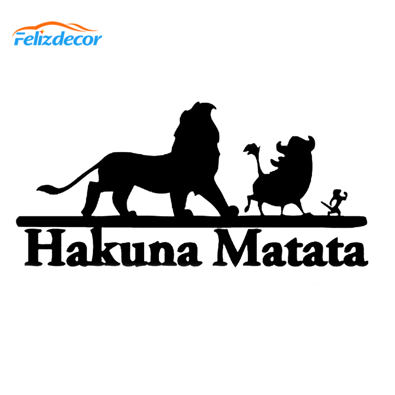 15cm long Hakuna Matata Sticker Lion King Vinyl Car Decal
