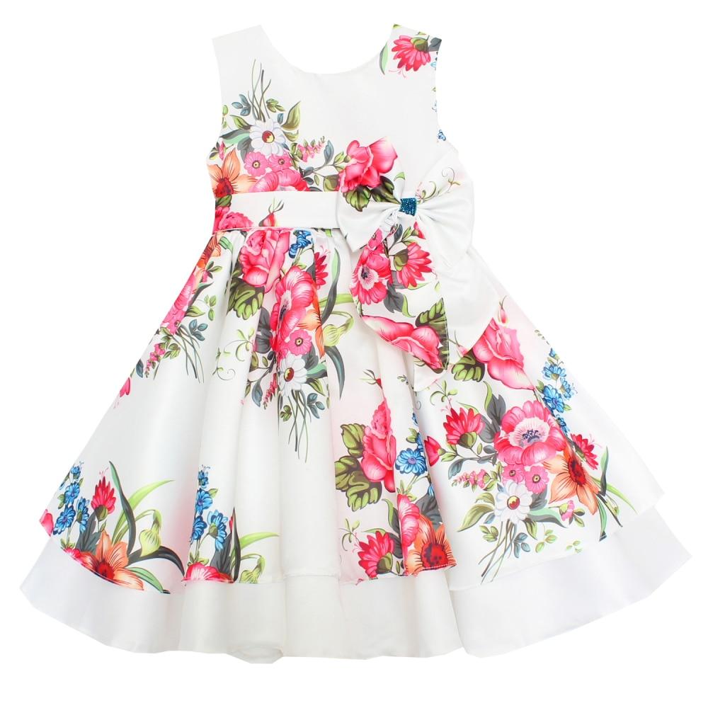 e9a61230b29de Shybobbi Summer Fashion Girls Dress Red Flower Bow Belt Party ...