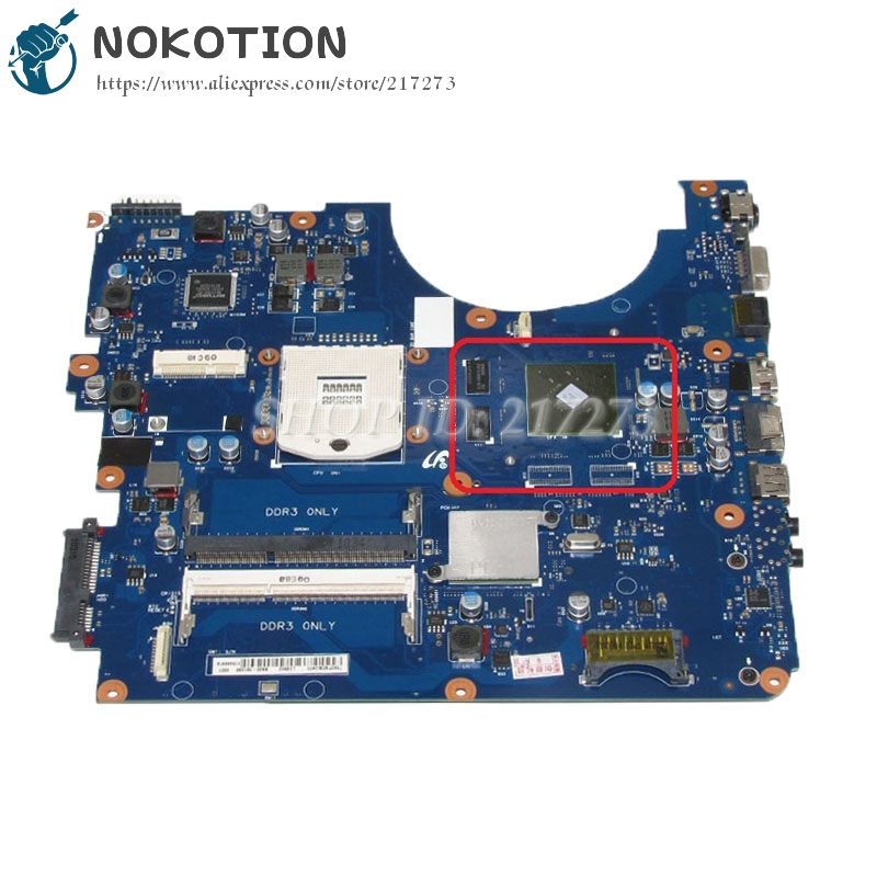 NOKOTION For Samsung NP-R580 R580 Laptop motherboard HM55 DDR3 GT310M graphics card BREMEN-M BA92-06132A BA92-06132B nokotion sps v000198120 for toshiba satellite a500 a505 motherboard intel gm45 ddr2 6050a2323101 mb a01