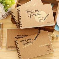 Creative South Korea stationery vintage kraft paper blank Graffiti note book paper notebook