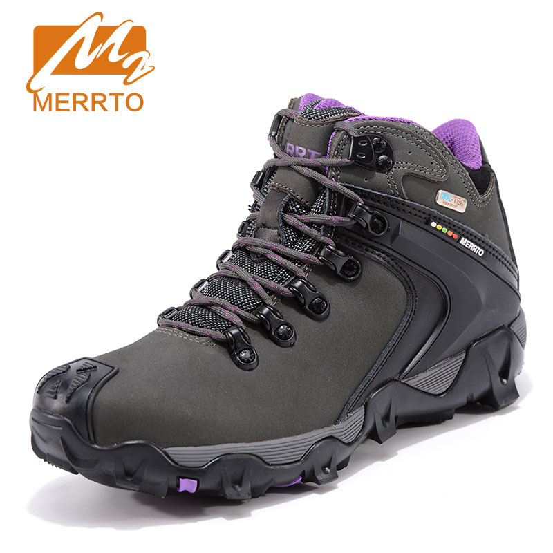 Фотография Merrto Women Hiking Shoes Outdoor Climbing Zapatos Female Trekking Boots Sports Shoes Waterproof Sneakers Botas Senderismo