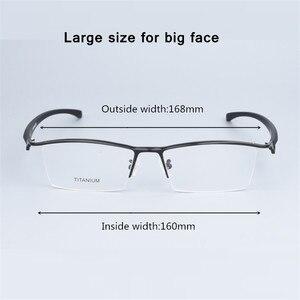 Image 1 - העסקי גדול משקפיים מסגרת גברים משקפי טהור טיטניום אופטי מרשם Oculos גדול גודל משקפיים