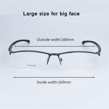 Di grandi dimensioni di Business di Vetro del Telaio Uomini Occhiali Occhiali Da Vista Puro Titanio Ottica di Prescrizione Oculos di Grandi Dimensioni