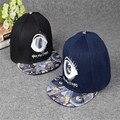 Vintage Brand Fashion Owl Big Eyes Graffiti Flat Hats Sports Hip Hop Baseball Caps For Women Men