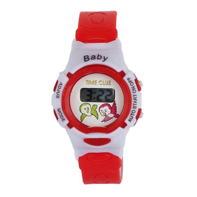 #5001Colorful Boys Girls Students Time Electronic Digital Wrist Sport Watch DROP