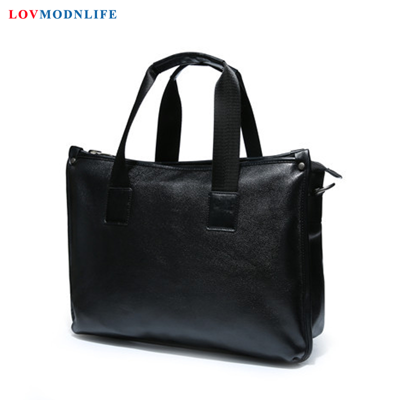 Men 39 s Business Leather Messenger Bag Man Handbags Mens Briefcase With Handle Laptop Shoulder Bag Male Casual Portfolio Tote Bags in Briefcases from Luggage amp Bags