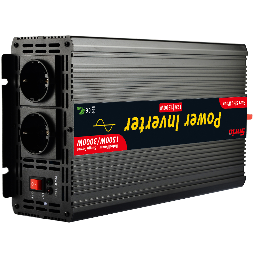 Peak 3000W pure sine wave power inverter converter rated 1500W inverter 12V 220V 230V max 3000W in great quality -in Inverters & Converters from Home Improvement