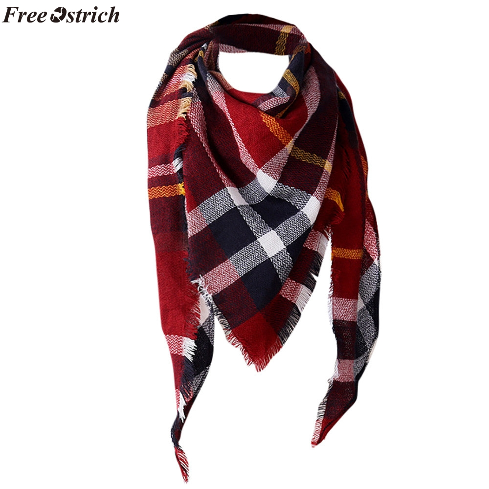FREE OSTRICH Women Shawl Cashmere Autumn Plaid Wool Scarves Scarf Imitation cashmere female warm fashion ponchos and capes