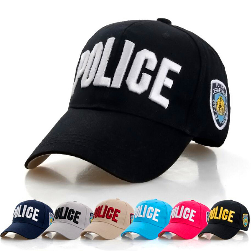 2017 New Item Casquette High Quality  Unisex Adjustable Cotton Police Baseball Caps for Boys Dad Hat Girls Bone Gorras Snapback high quality cotton gravity falls u s cartoon animation mabel dipper fans adult kids boys girls baseball hat caps gorras planas