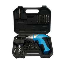 цена на 3.6V DC 180rpm Rechargeable Electric Screwdriver 46pcs/set with LED Light for Household maintenance