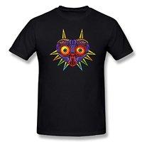 De Legende van Zelda Majoras Masker Retro T-shirt Fashion T-Shirts Zomer Straight 100% Katoen Wit O Hals Katoenen T-Shirt