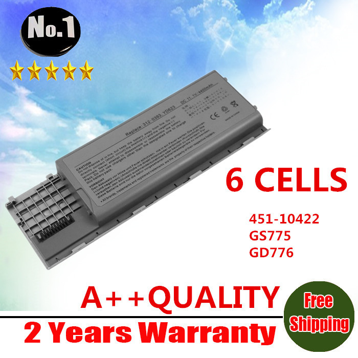 WHOLESALE New 6 CELLS laptop battery For Dell Latitude D620 D630  D630c D631 series 0GD775 0GD787 0JD605 0JD606 FREE SHIPPING new 12 cells laptop battery for dell latitude e6400 e6410 e6500 e6510 pt434 pt435 pt436 pt437 free shipping