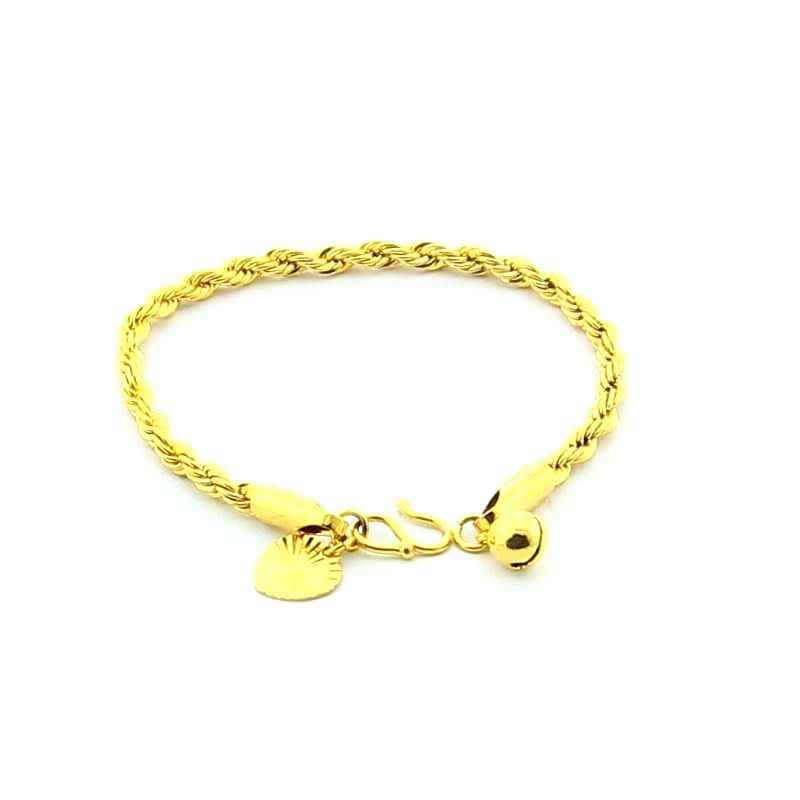 JH066 24k gold plated baby bracelet /bangles ,new baby jewelry ...
