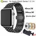 Металлический ремешок для часов Apple watch  ремешок из нержавеющей стали для Apple Watch 40 мм 44 мм 38 мм 42 мм iWatch 1 2 3 4