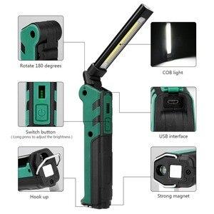 Image 3 - Lanterna magnética de led, mais nova lanterna portátil recarregável por usb, cob, pendurada em gancho, para uso ao ar livre, 2019