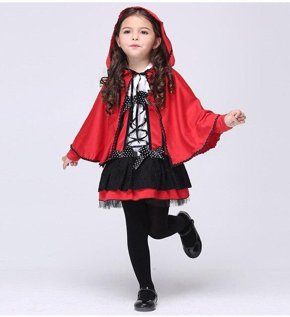 children girls little red riding hood costume fancy kids halloween costumes cosplay fantasia red devil