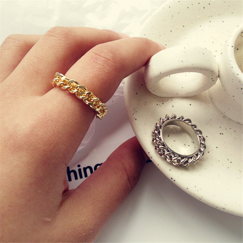 Unique fashion girl contracted accessories in Europe and the geometric metal for birthday party Fashion metal ring in Rings from Jewelry Accessories