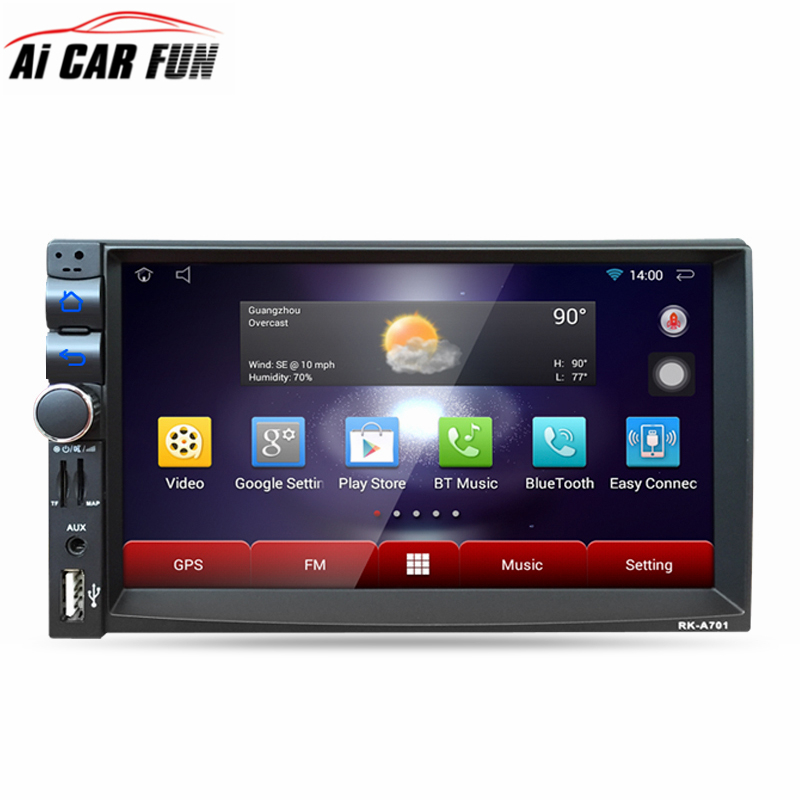 RK-A701 Android 5.1.1 2Din Car Media Player Bluetooth A2DP Touch Screen Wifi GPS Navi Stereo Audio 3G/FM/AM/USB/SD MP5 Player